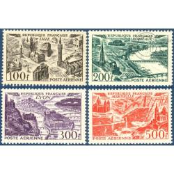 FRANCE PA N°24 A 27 VUES DE GRANDES VILLES, TIMBRES NEUFS** -- 1949