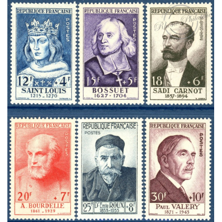 FRANCE N°989-994, TIMBRES NEUFS**, 1954