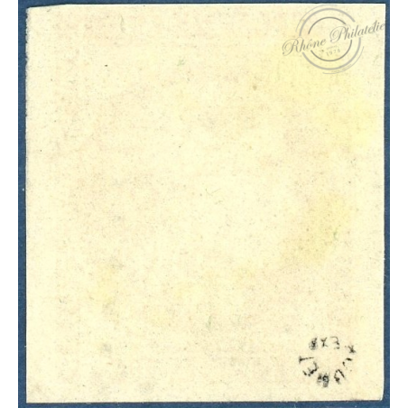 N°43Ba TYPE CÉRÈS, TIMBRE OBLITÉRÉ, SIGNÉ ROUMET, 1871