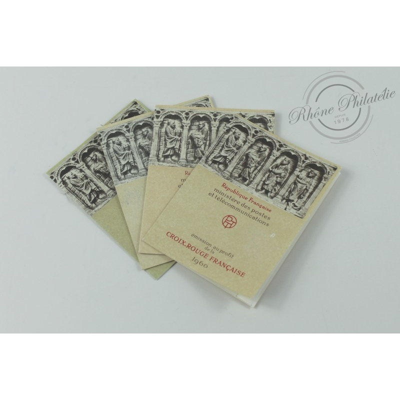 LOT 4 CARNETS CROIX-ROUGE N°2009 TIMBRES POSTE NEUFS** 1960