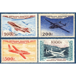 FRANCE PA N°30 A 33 PROTOTYPES, SÉRIE TIMBRES NEUFS**, 1954
