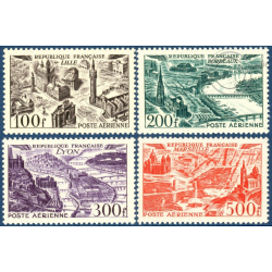 FRANCE PA N°24 A 27 VUES DE GRANDES VILLES, TIMBRES NEUFS** - 1949
