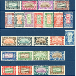 SAINT-PIERRE-ET-MIQUELON N°136 A 159, TIMBRES NEUFS AVEC CHARNIERE, 1932