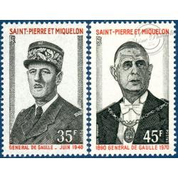 SAINT-PIERRE-ET-MIQUELON N°419 A 420, TIMBRES NEUFS AVEC CHARNIÈRE, 1971