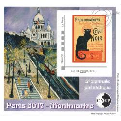 "BLOC CNEP N_74 ""BIENALE PHILATELIQUE PARIS 2017"" AUTOADHESIF"