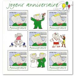 BLOC N°__100 JOYEUX ANNIVERSAIRE - BABAR