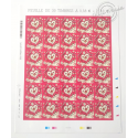 FEUILLE TIMBRES POSTE AUTOADHESIFS 787 COEURS 2013 D'HERMES