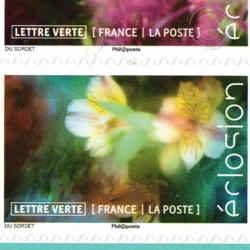 """CARNET """"ECLOSION"""" BC1707 lettre verte 20g Année 2019"""