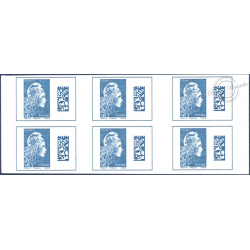 CARNET EUROPE MARIANNE D'YSEULT N°1603-C1, 6 TIMBRES EUROPE QR CODE DATA