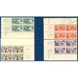BLOC DE 4 PA N°24 A 27 VUES DE GRANDES VILLES, TIMBRES NEUFS**, 1949