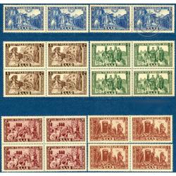 SARRE N°278 A 282 EN 4 EXEMPLAIRES, TIMBRES POSTES NEUFS**, 1950
