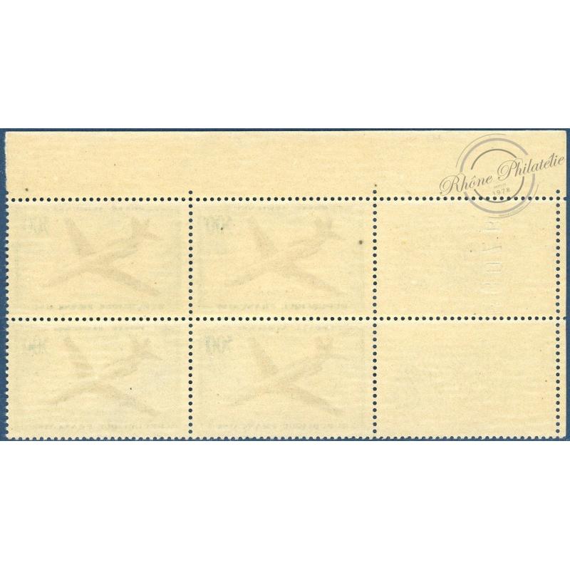 BLOC DE 4, PA N°36 CARAVELLE, TIMBRES NEUFS** 1957-1959