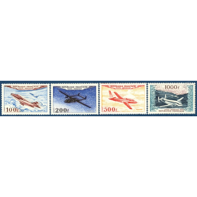 PA N°30 A 33 PROTOTYPES, SÉRIE TIMBRES NEUFS** -- 1954