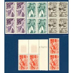 4 BLOCS DE 4 TIMBRES PA N°24 A 27 VUES DE GRANDES VILLES, TIMBRES NEUFS**, 1949