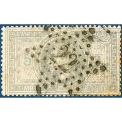 N°33 TYPE NAPOLÉON VIOLET GRIS, TIMBRE OBLITÉRÉ ETOILE, SIGNÉ CALVES