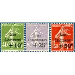 N°275 A 277 CAISSE D'AMORTISSEMENT, TIMBRES NEUFS**, 1931