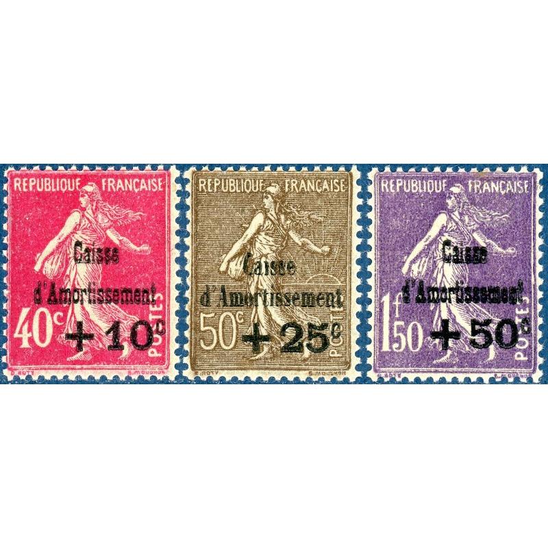 N°266 A 268 CAISSE D'AMORTISSEMENT NEUFS** -- 1930