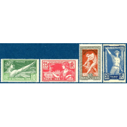 N°183 à 186 JEUX OLYMPIQUES DE PARIS, TIMBRES NEUFS** 1924