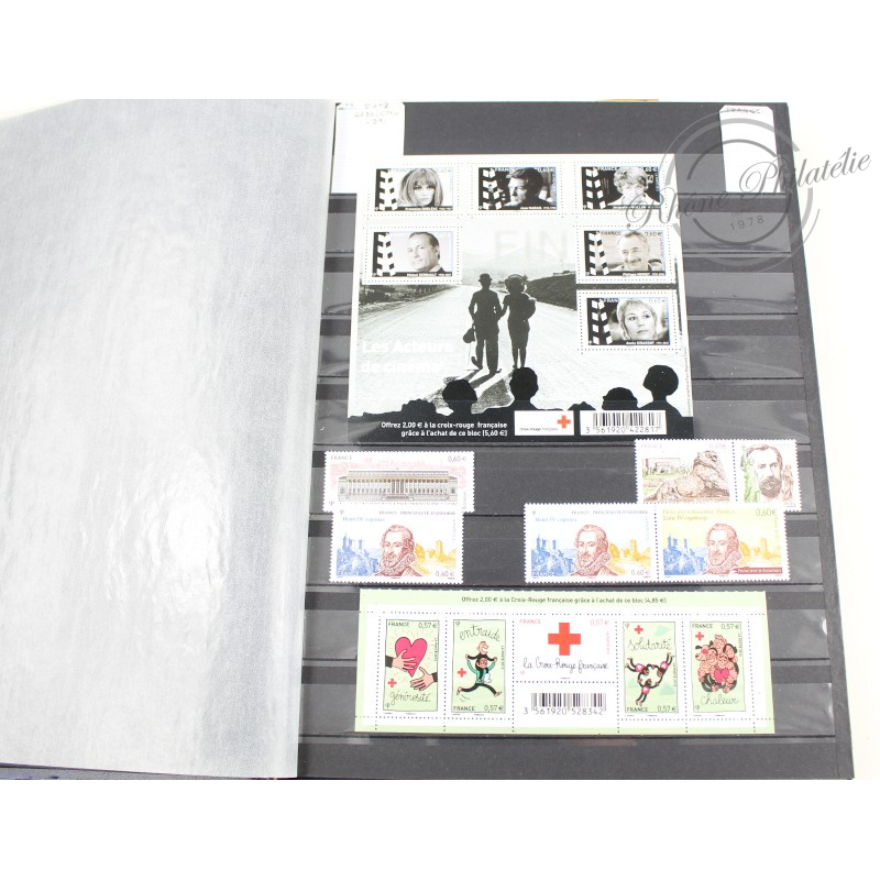 COLLECTION DE TIMBRES 2012 à 2016, TIMBRES NEUFS**, INCOMPLET