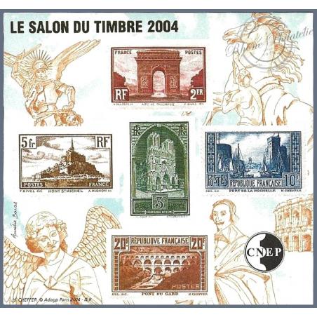 "BLOC CNEP N°_41a NON DENTELE ""SALON DU TIMBRE 2004"" LUXE"