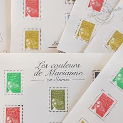 LOT DE 44 BLOCS N°67 LES COULEURS DE MARIANNE 6.89€, FACIALE 302€