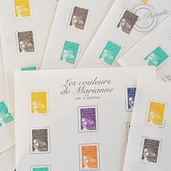 LOT DE 45 BLOCS N°44 LES COULEURS DE MARIANNE 3.88€, FACIALE 174€