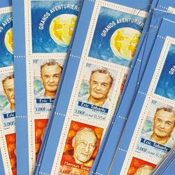 LOT DE 22 CARNETS AVENTURIERS FRANÇAIS N°BC3348, FACIALE 60€