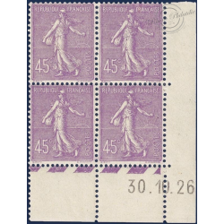 FRANCE N°197 TIMBRES TYPE SEMEUSE LIGNÉE, NEUFS-1924