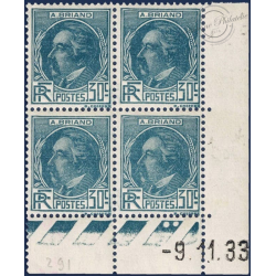 FRANCE COIN DATÉ N°291 TIMBRES ARISTIDE BRIAND NEUFS** 1933