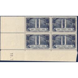 FRANCE COIN DATÉ N°317 MONUMENT DE VIMY, TIMBRES NEUFS**1936