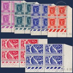 FRANCE COINS DATÉS N°322 A 327 EXPOSITION INTERNATIONALE DE PARIS, TIMBRES NEUFS-1936