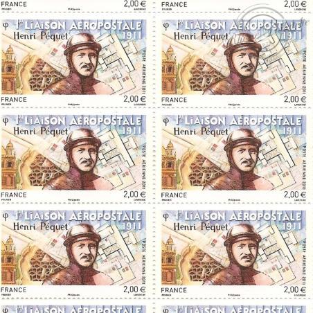 PA N°_74 HENRI PEQUET 2011 NEUFS** feuille de 10 timbres