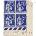 FRANCE COIN DATÉ N°360 À 371 TYPE SEMEUSE ET LAU, TIMBRES NEUFS**-1937-39