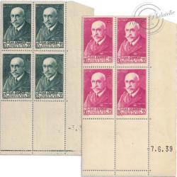 FRANCE COIN DATÉ N°377 ET 377A JEAN CHARCOT, TIMBRES NEUFS**-1938-39