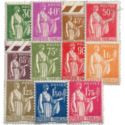 FRANCE N°280-289 SÉRIE TYPE PAIX, TIMBRES NEUFS**1932-1933