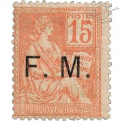"""FRANCE FRANCHISE N°1, SURCHARGÉ """"FM"""" , TIMBRE NEUF-1901-04"""
