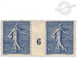 FRANCE MILLÉSIME N°132, TYPE SEMEUSE, TIMBRES NEUFS*1906