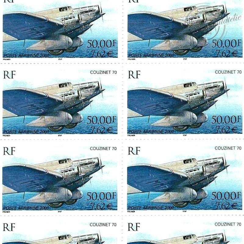 PA N°_64 COUZINET 70 2000 LUXE feuille de 10 timbres sous blister