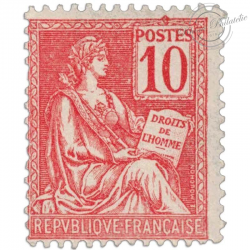 FRANCE N°116 TYPE MOUCHON 10 C ROUGE, TIMBRE NEUF-1900-01