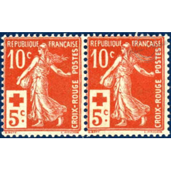 N°__147 SEMEUSE CROIX ROUGE, TIMBRES NEUFS**, 1914