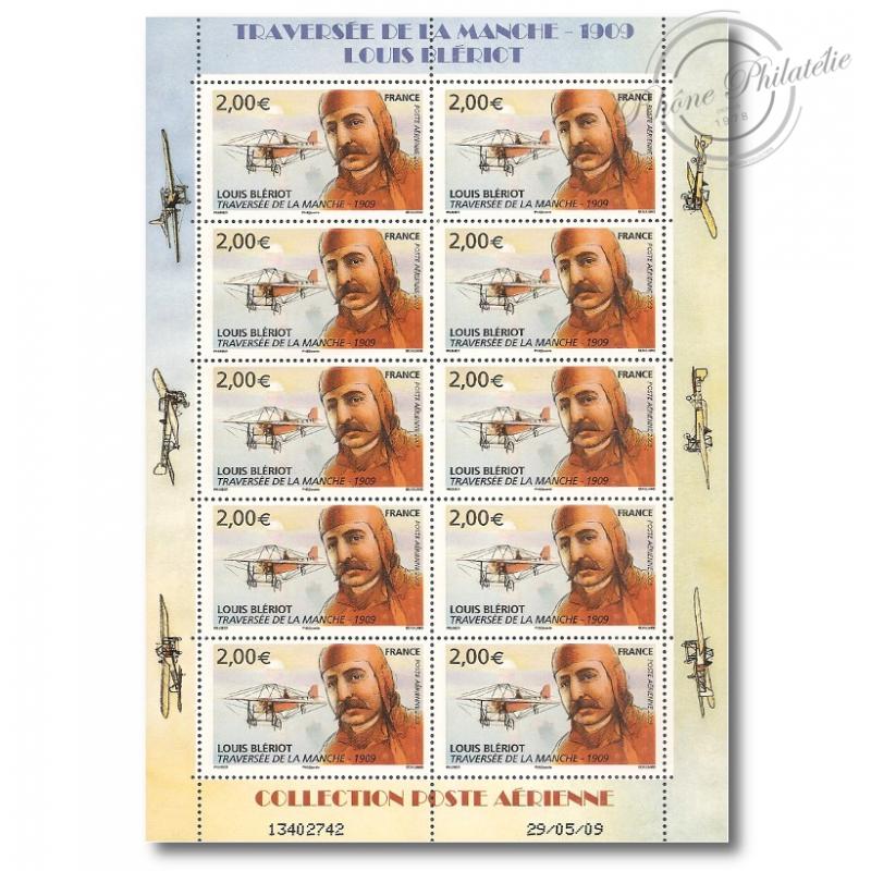 PA N°_72 LOUIS BLERIOT 2009 feuille de 10 timbres sous blister
