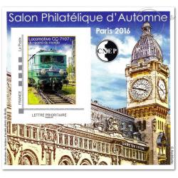 """BLOC CNEP No_73 """"SALON PHILATELIQUE AUTOMNE PARIS 2016"""" AUTOADHESIF"""