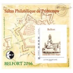 "BLOC CNEP No_71 ""BELFORT 2016. SALON DE PRINTEMPS AUTOADHESIF"