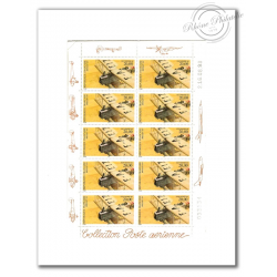PA N°_61 BIPLAN 1997 LUXE feuille de 10 timbres sous blister
