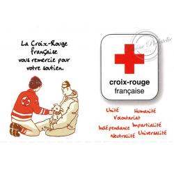 """CARNET """"ACTIONS DE LA CROIX-ROUGE"""" lettre verte BC1270"""