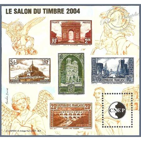 """BLOC CNEP N°_41 """"SALON DU TIMBRE 2004"""" LUXE"""