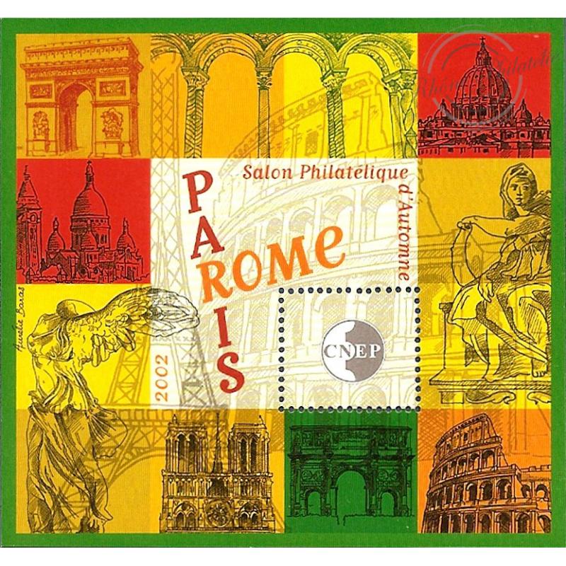 """BLOC CNEP N°_37 """"PARIS-ROME 2002"""" LUXE"""