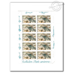 PA N°_62 BIPLAN POTEZ 25 (1998) FEUILLE COLLECTOR 10 timbres F62a