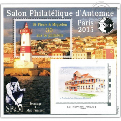 """BLOC CNEP N°_70 """"PARIS 2015. SALON D'AUTOMNE"""" AUTOADHESIF"""