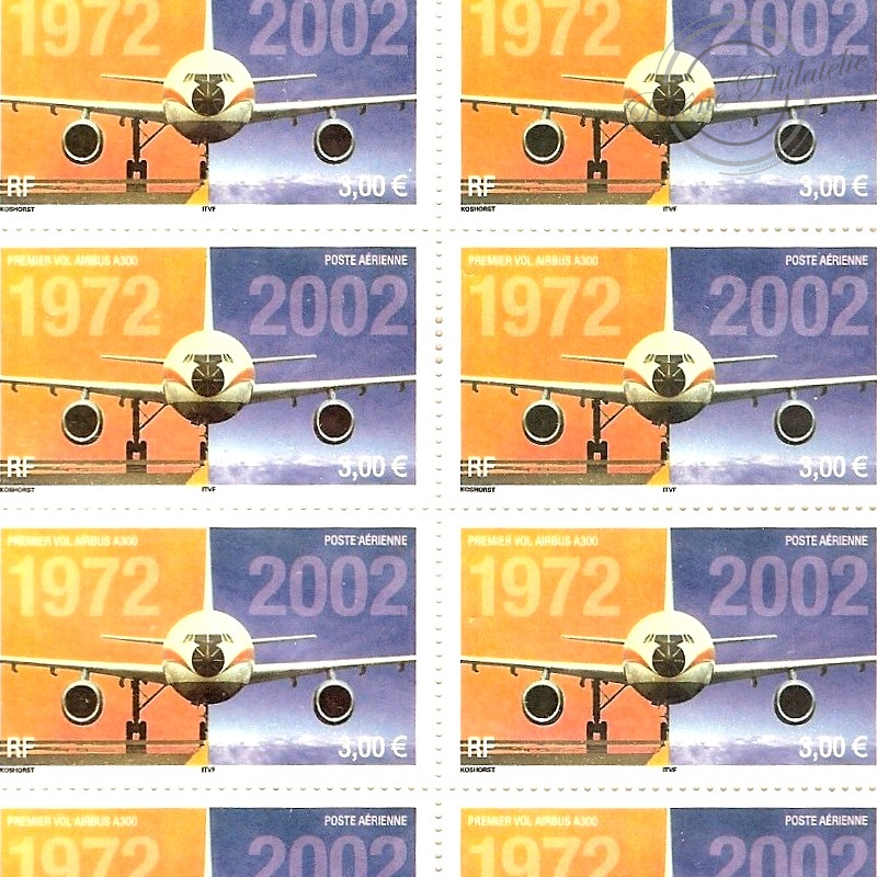 PA N°_65 AIRBUS A300 LUXE feuille 10 timbres sous blister